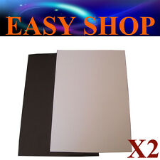 .2x A4 Whiteboard White Board Magnet Sheets DIY Hand Craft Fridge Office School