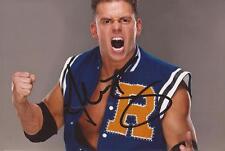 WWE WRESTLING: ALEX RILEY SIGNED 6x4 PORTRAIT PHOTO+COA *A-BOMB* *A-RY*
