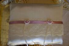CUSCINO PORTAFEDI MATRIMONIO pizzo e cuori P112 Wedding ring pillow