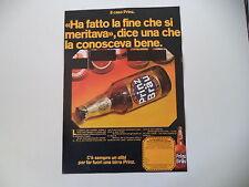 advertising Pubblicità 1971 BIRRA BEER PRINZ BRAU