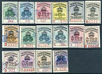 16 different Saskatchewan Electrical Inspection Stamps.  (Lot #RR72)