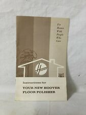 VINTAGE HOOVER FLOOR POLISHER VACUUM CLEANER OWNERS INSTRUCTIONS MANUAL 1970 J