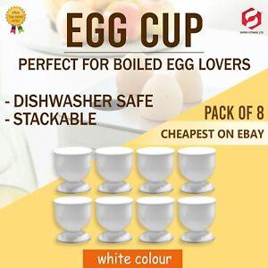 8 x Egg Cup Set Breakfast Boiled Eggs Novelty egg holder Kitchen Home Food New