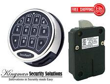 SecuRam Safelogic Basic II Lock & Keypad Kit - Swingbolt - Chrome Finish