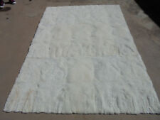 "Beautiful alpaca wool rug handmade white of 47"" * 28"" - 1.20 cm * 70 cm"