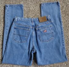 Vtg 90's Polo Ralph Lauren Flag on pocket Jeans Women 8 Retro Classic Stone Wash