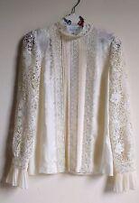 NEW ERDEM x H&M Women Natural White Silk Lace Blouse Shirt SIZE US6 EUR36