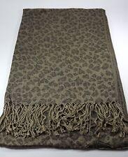 New Women Scarf Lady Shawl Wrap Long Scarf Stole Leopard Tassel Black Scarf MIT