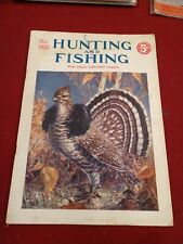 Vintage Hunting & Fishing Magazine October 1925 grouse cover