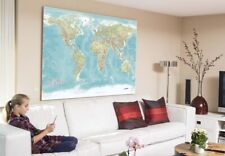 Huge World Wall Map - 72 inch X 40 inch!