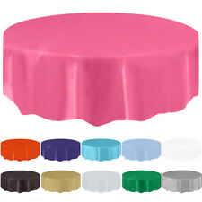 """84"""" Round Tablecloth Table Cover For Wedding Banquet Party Restaurant Decoration"""