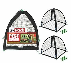 """Nuvue Products 32103 36"""" x 36"""" x 38"""" 2 Pack Black Pest Guard Cover"""