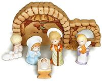 Vtg Hallmark 6 Piece Christmas The Nativity Collection by Mary Hamilton 1980s