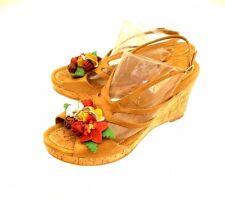 Two Lips 'Flora' Women's Platform / Wedge Open Toe Sandals 9 M