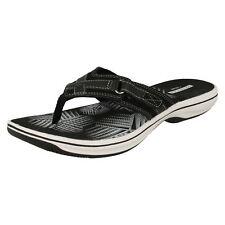 Ladies Clarks Toe Post Lightweight Mule Style - Brinkley Sea UK 5 Black