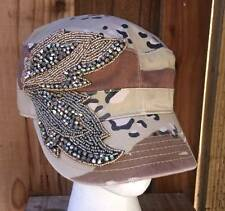 New Olive & Pique Bling Beaded Leaves Camo Cadet Style Hat
