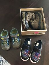 Lot of 3 Toddler Boy Shoes Size 8, 8.5 and 9 Stone Canyon, PJ Masks