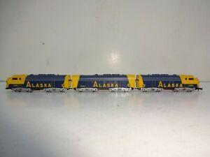 Märklin mini-club Spur Z 8819 USA 3-teilige Diesellok F7 Alaska Railroad *OVP*
