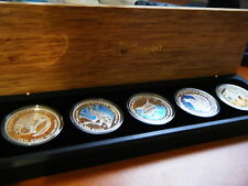 2011, Discover Australia, The Dreaming Series, 1oz Silver Proof 5 Coin Set #4676