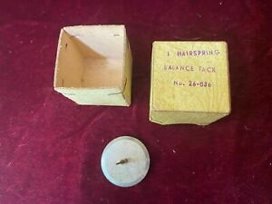 Hairspring Balance Tack Tool W German Watchmakers Pocket & Wrist Watch Or. Box