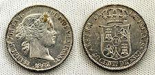 FALSA DE EPOCA 40 CENTIMOS DE ESCUDO 1867 XF/EBC CONSERVA EL PLATEADO ORIGINAL