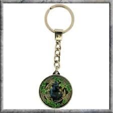 Cat Pentagram Key Ring Lisa Parker design crystal glass dome key chain gift