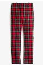 NWT J Crew Cameron Crop Pant in Tartan Plaid Bi-Stretch Wool Sz 00 Petite XXS