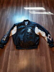 Vintage Dallas Cowboys NFL G-III Carl Banks Men's Leather Jacket Size Large Rare
