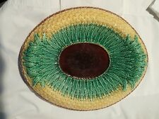 Superb Antique Majolica Etruscan Pineapple Asparagus Platter Bowl Bread Tray