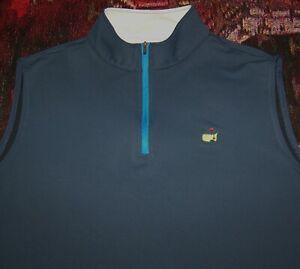 MASTERS PETER MILLAR 1/4 Zip Pullover Sweater Vest Shirt AUGUSTA NATIONAL Sz XL