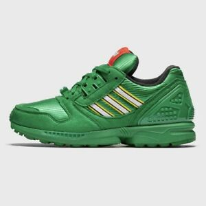 Adidas x LEGO ZX 8000 Limited Men's Athletic Shoe Green Trainers Casual Sneaker