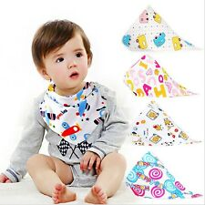 3Pcs Toddler Baby Kid Bandana Drool Bibs Feeding Saliva Towel Triangle Scarf Set