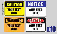 Sticker Custom Your Text Here 240x200mm Pack (10) Offer & Fast Delivery
