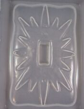 Resin Mold Light Switch Plate Sunburst Sun Star Design Epoxy Mold
