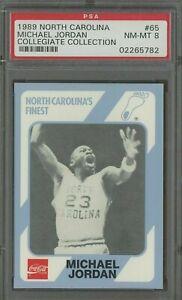 1989 North Carolina Collegiate Collection #65 Michael Jordan HOF PSA 8 NM-MT