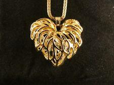Herz Anhänger 24 Karat Vergoldet Schmuck Liebe Strass Halskette Love Geschenk