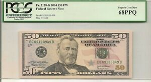 2004 $50 Federal Reserve Note FR 2128-G   PCGS 68 PPQ