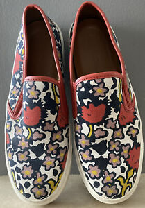 WOMENS COACH CAMERON FLORAL PRINT MULTI CANVAS SLIP ON SNEAKERS SHOES 8 B