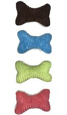 Plush Bone Dog Chew Pet Toy. Brand New! (PACK OF 4) And Get Every Color!