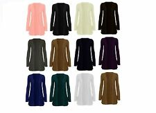 NEW WOMEN LADIES LONG SLEEVE BOYFRIEND CARDIGAN WITH POCKETS PLUS SIZES 8-22