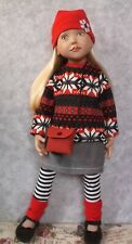 """A 6  PIECE  NORDIC SWEATER  TOP SET  FOR 20"""" / 50cm ZWERGNASE  DOLLS"""