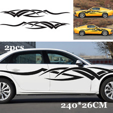 2x Waterproof DIY Sticker Decal Decoration Car Sides Door Vinyl Tribal Flame