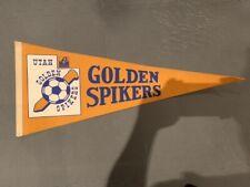 ASL Utah Golden Spikers Vintage Soccer Pennant - RARE!!