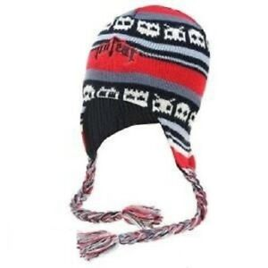 New No Fear Multicolored Red Beanie One Size Unisex Packman Junior Fast Delivery