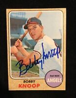 BOBBY KNOOP 1968 TOPPS AUTOGRAPHED SIGNED AUTO BASEBALL CARD 271 ANGELS