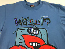 Florida Watsup T-Shirt VTG 90s Crab Sherrys Best Mens SZ M/L Cotton Tee USA Made