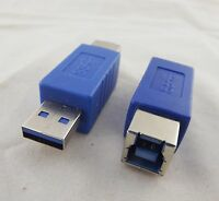 34cm 1.12FT Blue USB 3.0 Type A Male to Type B Female Super Speed Cable Adapter