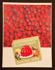 ROWNTREE'S SUNRIPE JELLY - Vintage Colour Magazine Advert (1950)*