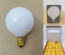 24 White Christmas Globe Candelabra Base 60 Watts 3000 Hours Light Bulbs 130V