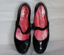 PAS DE ROUGE BLACK PATENT LEATHER MARY JANE BALLET FLATS SIZE 39 / US 8.5-9